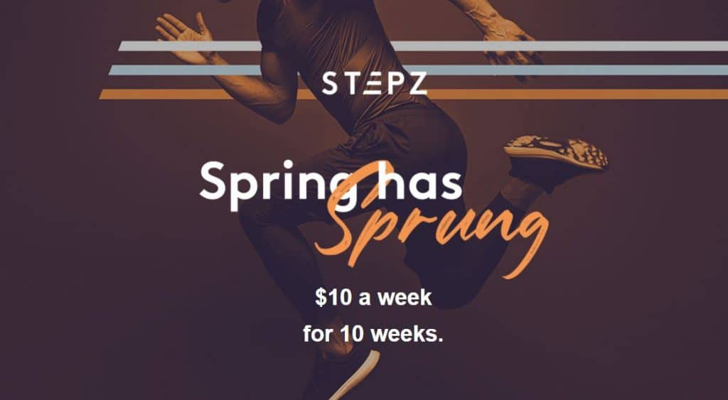 Join Stepz today for $10 a week for 10 weeks